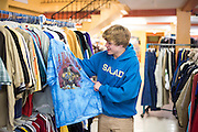 Christian Akridge shops for new clothes at a thrift store in Wichita Falls, Texas on November 18, 2015.  (Cooper Neill for Rolling Stone)