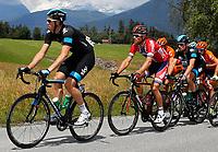 Sykkel<br /> Kuehtai Østerrike<br /> 30.06.2013<br /> Foto: Gepa/Digitalsport<br /> NORWAY ONLY<br /> <br /> 65. Internationale Oesterreich Rundfahrt, 1. Etappe, Innsbruck - Kuehtai. Bild zeigt Mathew Haymann (AUS/Sky Procycling), Thor Hushovd (NOR/BMC Racing Team) und Bernhard Eisel (AUT/Sky Procycling).