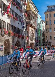 26.09.2018, Innsbruck, AUT, UCI Straßenrad WM 2018, Herren, Training, im Bild Team Belgien // team Belgium during the men's practice trial of the UCI Road World Championships 2018. Innsbruck, Austria on 2018/09/26. EXPA Pictures © 2018, PhotoCredit: EXPA/ Reinhard Eisenbauer