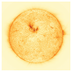 Newly released images of the Sun have revealed that its outer layer is filled with previously unseen, incredibly fine magnetic threads filled with extremely hot, million-degree plasma. The high-resolution observations have been analysed by researchers at UCLan alongside collaborators from NASA's Marshall Space Flight Centre (MSFC) and will provide astronomers with a better understanding of how the Sun's magnetised atmosphere exists, and what it is comprised of.<br /> <br /> Until now, certain parts of the Sun's atmosphere had appeared dark or mostly empty, but new images have revealed strands that are around 500km in width - roughly the distance between London and Belfast - with hot electrified gases flowing inside them.<br /> <br /> The ultra-sharp images were taken by NASA's High-Resolution Coronal Imager (or Hi-C for short), a unique astronomical telescope carried into space on a sub-orbital rocket flight. The telescope can pick out structures in the Sun's atmosphere as small as 70km in size, or around 0.01% the size of the Sun, making these the highest resolution images ever taken of the Sun's atmosphere. MORE COPY AVAILABLE: info@cover-images.com<br /> <br /> When: 09 Apr 2020<br /> Credit: UCLan/Cover Images<br /> <br /> **Editorial use only**