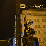 Thousands of Black Lives Matter Protesters march from multiple locations and descended onto the newly name Black Lives Matter plaza on 16th and H Street to protest of the killing of George Floyd in police custody, on Saturday, June 6, 2020.