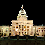 Texas State Capitol in Austin at night Completed in 1888 and in an architectural style of Renaissance Revival, the Texas State Capitol is the largest of the state Capitols. Although smaller in size than the US Capitol in Washington DC, it's dome rises 15 feet higher than the US Capitol Dome. On a high point in Austin's downtown, it has a commanding view over the surround area. Its exterior is of locally source granite.