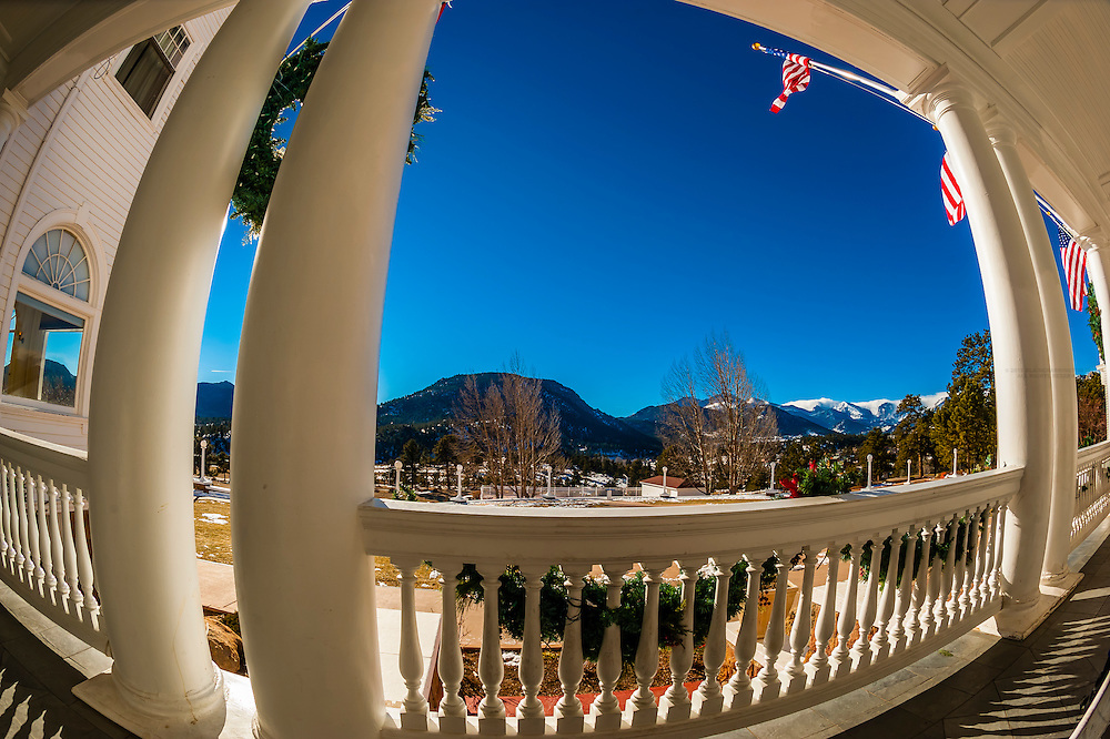 The historic Stanley Hotel, Estes Park, Colorado USA.