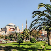 Originally built as a Christian cathedral, then converted to a Muslim mosque in the 15th century, and now a museum (since 1935), the Hagia Sophia is one of the oldest and grandest buildings in Istanbul. For a thousand years, it was the largest cathedral in the world and is regarded as the crowning achievemen of Byzantine architecture.