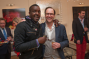 ORLANDO HAMILTON; ROBIE HONEY, Party given by Basia Briggs and Richard Briggs at their home in Chelsea. London. 14 May 2012