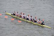 London, Great Britain.<br /> Leander I, passing Barnes Bridge 2016 Head of the River Race, Reverse Championship Course Mortlake to Putney. River Thames. Saturday  19/03/2016<br /> <br /> [Mandatory Credit: Peter SPURRIER;Intersport images]