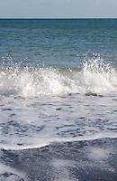 Close up of waves on Killiney Beach in Dublin Ireland