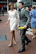 Koningsdag 2014 in Amstelveen, het vieren van de verjaardag van de koning. / Kingsday 2014 in Amstelveen, celebrating the birthday of the King. <br /> <br /> <br /> Op de foto / On the photo: Prince Maurits and Princess Marilene