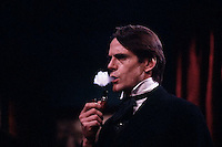 1991, New York, New York, USA --- Jeremy Irons as Sherlock Holmes on Saturday Night Live --- Image by © Owen Franken/CORBIS