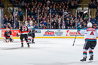 KELOWNA, CANADA - JANUARY 30: Fans react to a Kelowna Rockets' goal against the Medicine Hat Tigers on January 30, 2017 at Prospera Place in Kelowna, British Columbia, Canada.  (Photo by Marissa Baecker/Shoot the Breeze)  *** Local Caption ***