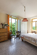 Architecture, country house, bedroom with classic furniture