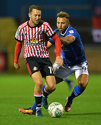 Sunderland's Aidan McGeady battles with Carlisle United's Hallam Hope