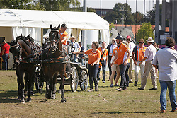 Chardon IJsbrand, (NED), Bravour, Don Marcell, Eddy, Winston E<br /> Marathon Driving Competition<br /> FEI European Championships - Aachen 2015<br /> © Hippo Foto - Dirk Caremans<br /> 22/08/15