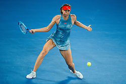 January 19, 2019 - Melbourne, VIC, U.S. - MELBOURNE, VIC - JANUARY 18: MARIA SHARAPOVA (RUS) during day five match of the 2019 Australian Open on January 18, 2019 at Melbourne Park Tennis Centre Melbourne, Australia (Photo by Chaz Niell/Icon Sportswire) (Credit Image: © Chaz Niell/Icon SMI via ZUMA Press)