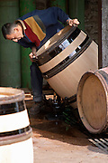 cleaning barrels with water clos des langres ardhuy nuits-st-georges cote de nuits burgundy france