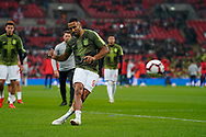 Callum Wilson of England warms up during the International Friendly match between England and USA at Wembley Stadium, London, England on 15 November 2018.