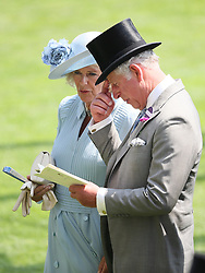 The Duchess of Cornwall and The Prince of Wales during day two of Royal Ascot at Ascot Racecourse.