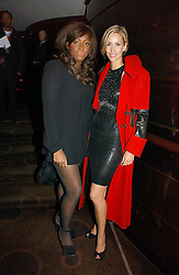 Left to right, MICA PARIS and LISA BUTCHER at a party following the premier of Blood Diamonds hosted by Amnesty at The Dorchester, Park Lane, London on 23rd January 2007.<br />
