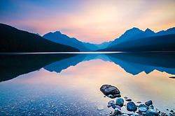 Bowman Lake Surnise, Glacier Natonal Park,  Polebridge, Montana