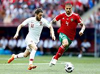 Bernanrdo Silva (Portugal) and Manuel Da Costa (Morocco)<br /> Moscow 20-06-2018 Football FIFA World Cup Russia  2018 <br /> Portugal - Morocco / Portogallo - Marocco <br /> Foto Matteo Ciambelli/Insidefoto