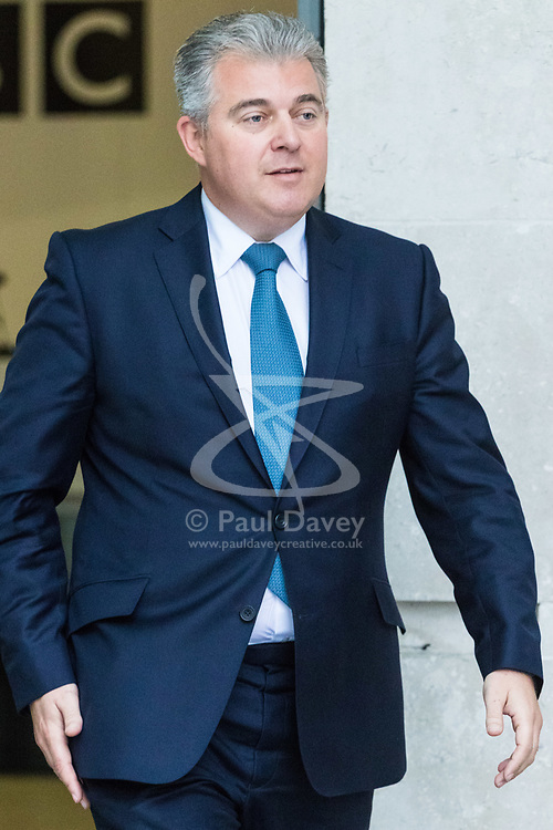 London, January 14 2018. Conservative Party Chairman Brandon Lewis attends the Andrew Marr Show at the BBC's New Broadcasting House in London.. © Paul Davey