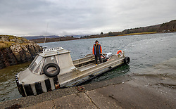 The Ulva ferry. Feature on the community on the island of Ulva, who have been awarded £4.4m in funding for their island buyout.