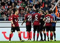 Fotball<br /> Tyskland<br /> 26.10.2013<br /> Foto: Witters/Digitalsport<br /> NORWAY ONLY<br /> <br /> Rote Karte fuer Marcelo (96) v.l. Sebastien Pocognoli, Rote Kate Marcelo, Salif Sane, Schiedsrichter Tobias Stieler, Lars Stindl, Torwart Ron-Robert Zieler<br /> Fussball Bundesliga, Hannover 96 - TSG 1899 Hoffenheim