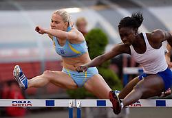 Marina Tomic and Tiffany Johnson (USA), 100m hurdles at 4th Memorial of Matic Sustersic and Patrik Cvetan athletic meeting of Grand Prix Vzajemna, on June 1, 2009, in ZAK, Ljubljana, Slovenia. (Photo by Vid Ponikvar / Sportida)