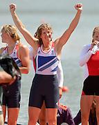 Eton Dorney, Windsor, Great Britain,..2012 London Olympic Regatta, Dorney Lake. Eton Rowing Centre, Berkshire.  Dorney Lake.  ..Final Women's Double Scull, GBR W2X, Bow Anna WATKINS and Katherine GRAINGER..12:42:50  Friday  03/08/2012 [Mandatory Credit: Peter Spurrier/Intersport Images]