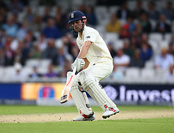 July 27, 2017 - London, United Kingdom - England's Alastair Cook .during the International Test Match Series Day One match between England and South Africa at  The Kia Oval Ground in London on July 27, 2017  (Credit Image: © Kieran Galvin/NurPhoto via ZUMA Press)