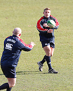 Picture by Andrew Tobin/Focus Images Ltd +44 7710 761829.08/02/2013.Tom Youngs of England of during Training at Pennyhill Park, Bagshot.