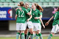 Fotball , Second Qualifying Round<br /> UEFA WU 17 <br /> Briskeby Hamar , Norway<br /> 24.03.12<br /> Poland  v  Republic of Ireland  0-1<br /> Foto: Dagfinn Limoseth, Digitalsport<br /> <br /> Michelle Farrell ,Mary Fitzpatrick , Ciara O Connell  , Republic of Ireland