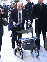 Harvey Weinstein is seen arriving to court in New York City, USA on Friday February 21, 2020.