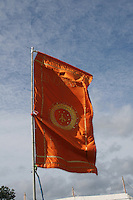Indian style flag at music festival