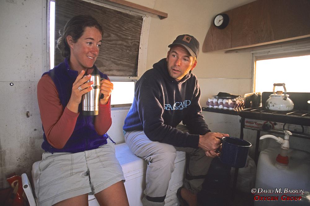Louise & J. Nichols In Silver Bullet Bus