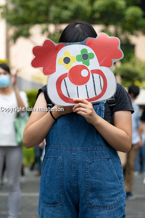 Hong Kong, China. 11th October 2019. Lunchtime flash mob demonstration by Pro-democracy demonstrators in Chater Square , Central District in Hong Kong. The protestors gathered to protest about treatment of those arrested by the police during Pro-democracy protests in the last 4 months. Police threatened to stop demonstration but it passed peacefully and concluded with march through city streets . Iain Masterton/Alamy Live News.