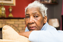 79-year-old pensioner Veronica Gordon faces spending her 80th birthday behind bars after getting a suspended prison sentence for refusing to remove a security gate from the entrance to her East London flat, despite having been granted permission to fit it by the previous council owner. London, August 16 2019.