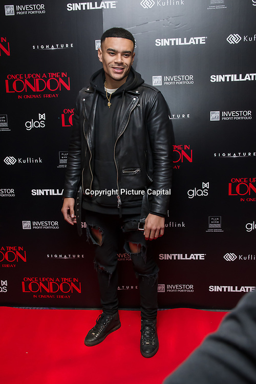 Wes Nelson Arrivers at Once Upon a Time in London - London premiere of the rise and fall of a nationwide criminal empire that paved the way for notorious London gangsters the Kray Twins and the Richardsons at The Troxy 490 Commercial Road, on 15 April 2019, London, UK.