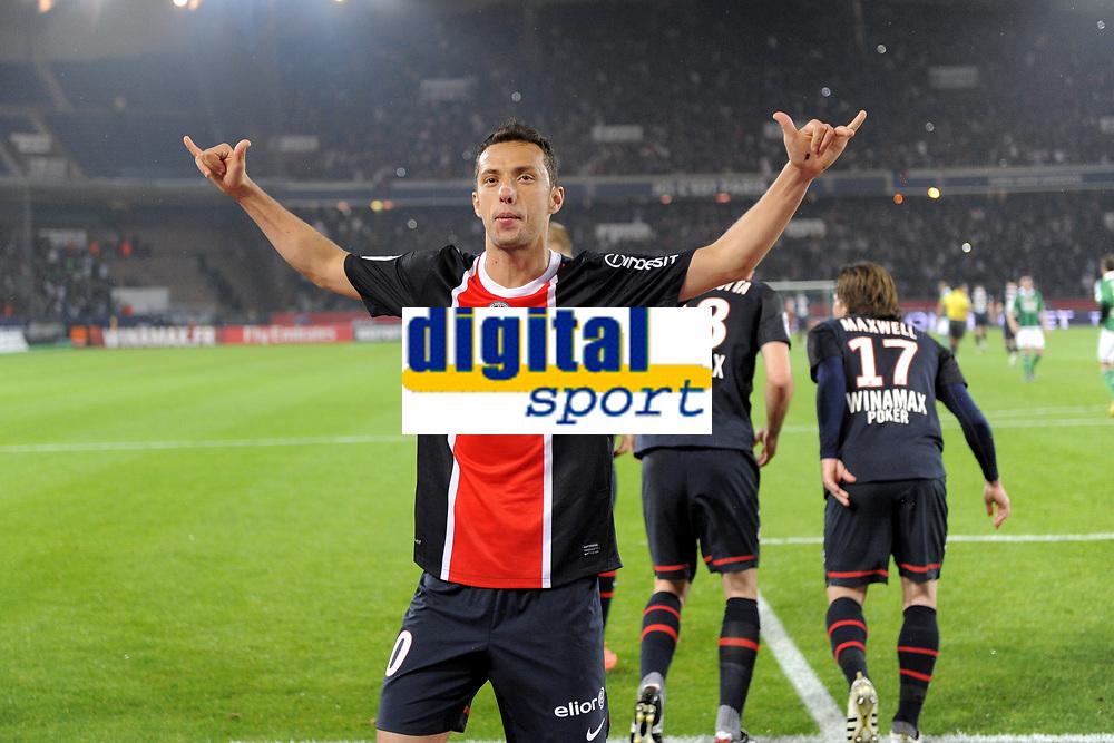 FOOTBALL - FRENCH CHAMPIONSHIP 2011/2012 - L1 - PARIS SAINT GERMAIN v AS SAINT ETIENNE - 2/05/2012 - PHOTO JEAN MARIE HERVIO / REGAMEDIA / DPPI - JOY NENE (PSG) AFTER HIS GOAL