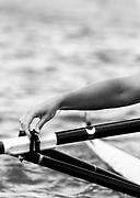 Atlanta, USA.,  Braceleted wrist, hand tightens the oarlock gate, 1996 Olympic Rowing Regatta, Lake Lanier, Georgia, [Mandatory Credit Peter Spurrier/ Intersport Images]