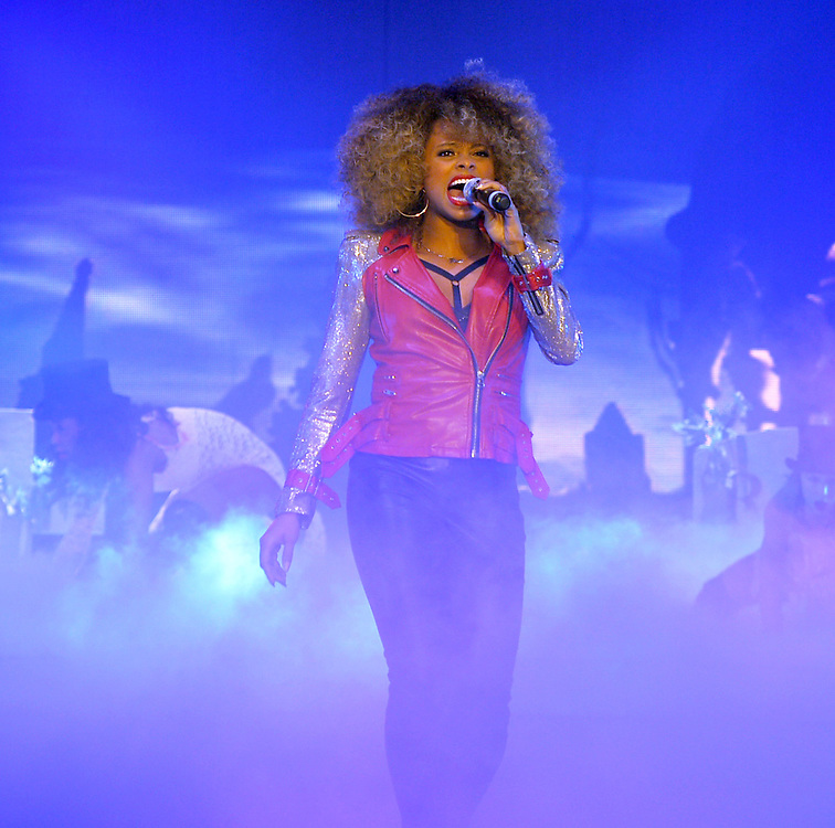 X Factor Tour  Belfast  opening night <br /> Fleur East,  During the Thriller number <br />Pix Dave Nelson