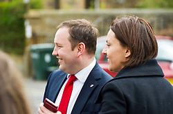 Pictured: Ian Murray and Kezia Dugdale thank the troops for their support.<br /> <br /> Scottish Labour's Ian Murray and Scottish Labour leader Kezia Dugdale hit the general election campaign trail in Edinburgh today for the first campaign event of Mr Murray's re-election campaign for the Edinburgh South constituency.<br /> Ger Harley   EEm 21 April 2017