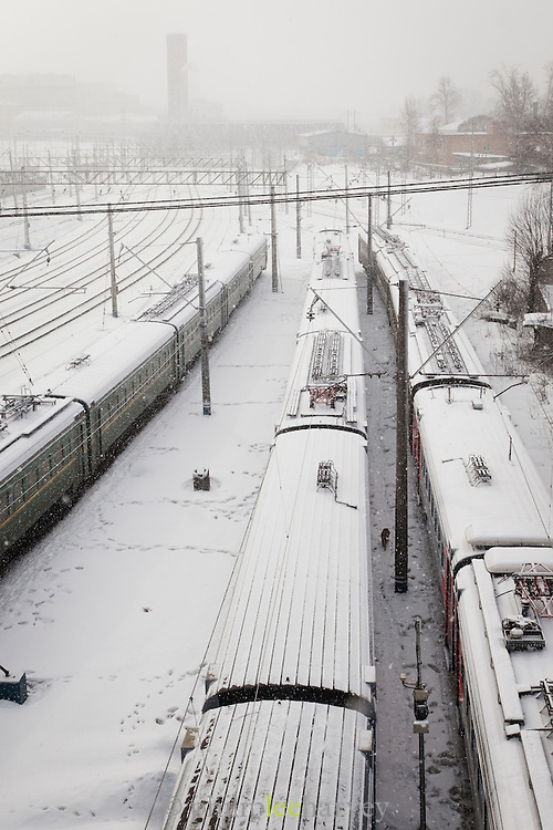 Moscow train station. Russia