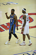 The Washington Wizards defeated the Cleveland Cavaliers 88-87 in Game 5 of the First Round of the NBA Playoffs, April 30, 2008 at Quicken Loans Arena in Cleveland..LeBron James of Cleveland and Washington's DeShawn Stevenson.