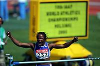 Friidrett, 6. august 2005, VM Helsinki, <br /> World Championship in Athletics<br /> Eunice Barber, FRA, heptathlon, high jumps