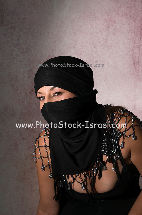 Young sexy mid eastern woman with scarf