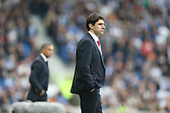 Middlesbrough FC Head Coach Aitor Karanka during the Sky Bet Championship match between Brighton and Hove Albion and Middlesbrough at the American Express Community Stadium, Brighton and Hove, England on 19 December 2015.