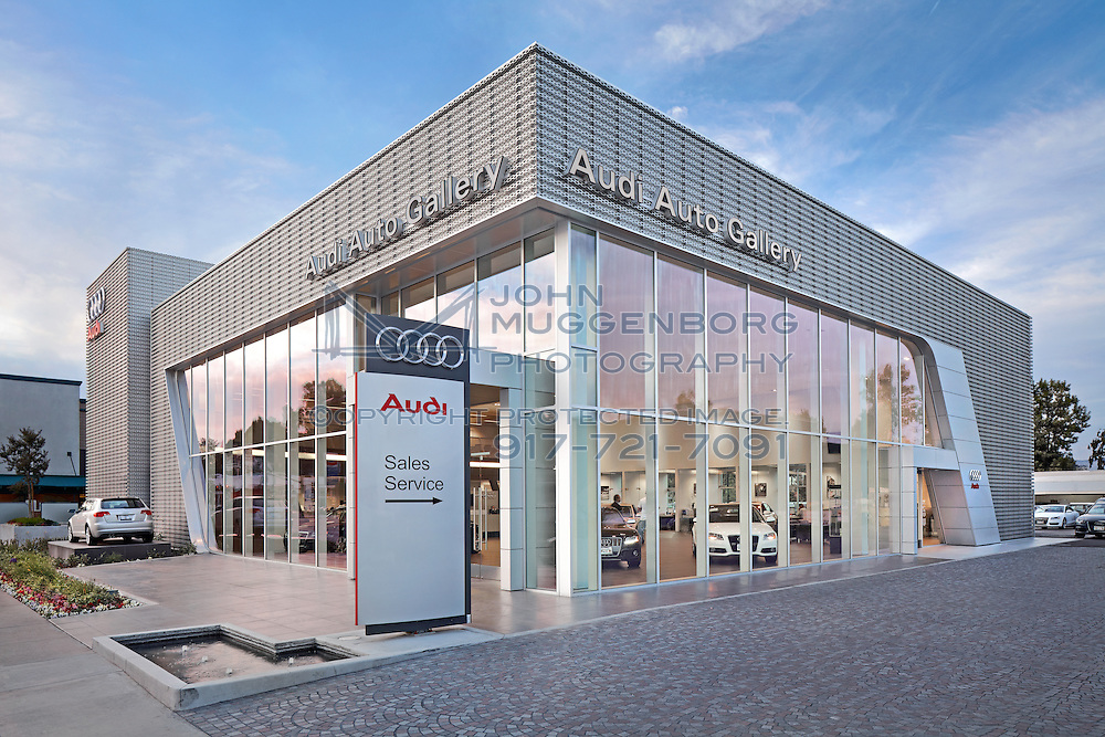 Image of the Audi Auto Gallery Terminal dealership in Woodland Hills, CA by John Muggenborg.
