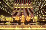 Christmas Trees, Avenue of the Americas, Manhattan, New York