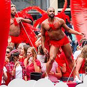 NLD/Amsterdam/20170805 - Gaypride 2017, boot Vodafone